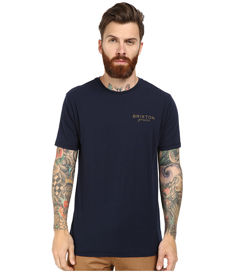 Brixton - Ramsey Short Sleeve Prem Tee (Navy) Men
