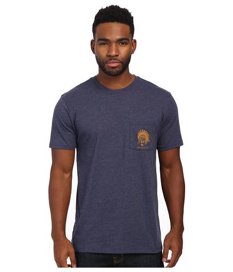 Brixton - Crow Short Sleeve Pocket Tee (Washed Navy) Men