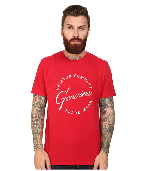 Brixton - Genuine Short Sleeve Prem Tee (Red) Men's T Shirt