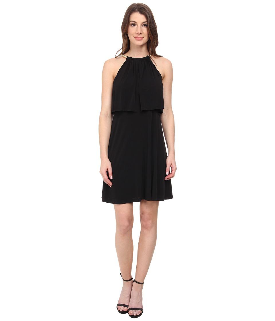 Jessica Simpson Popover Bungee Necklace Dress (Black) Women