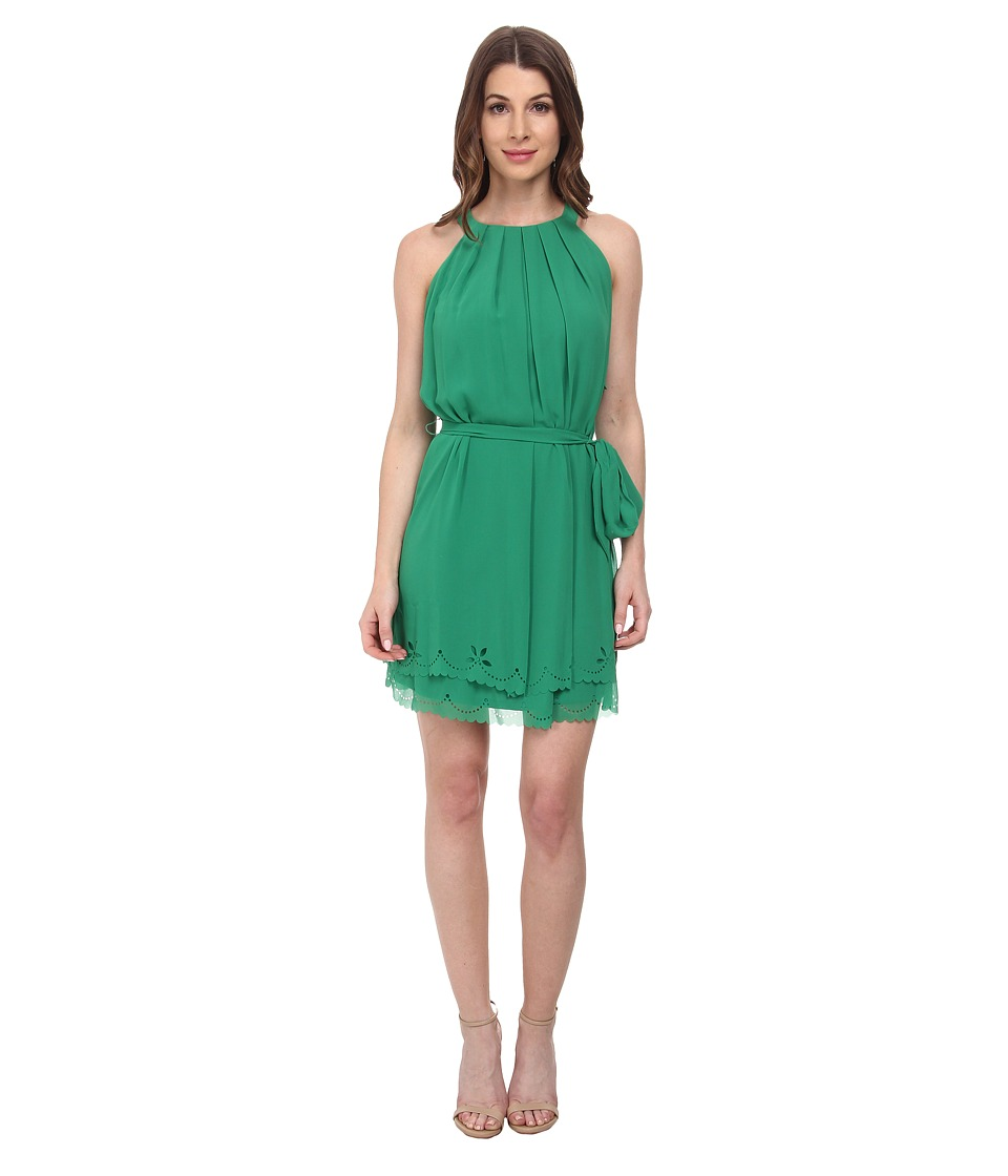 Jessica Simpson - Chiffon Laser Cut (Green) Women's Dress
