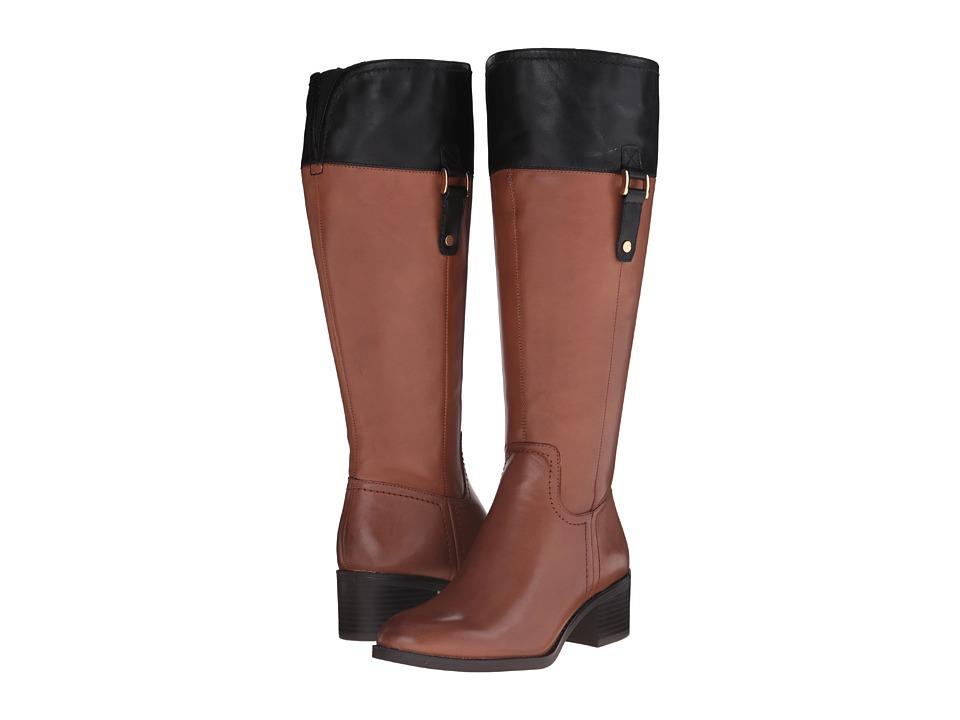 Franco Sarto - Lizbeth Wide Calf (Brown/Black) Women's Shoes