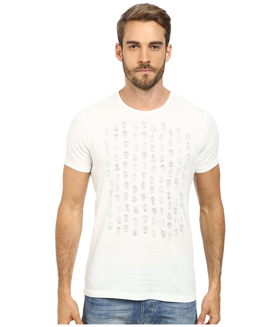 John Varvatos Star U.S.A. - Rows of Skulls Graphic T-Shirt K2273R2B (Salt) Men's T Shirt