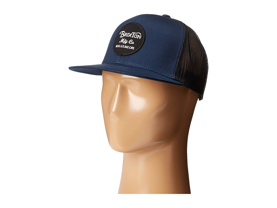 Brixton - Wheeler Mesh Cap (Dark Navy) Caps