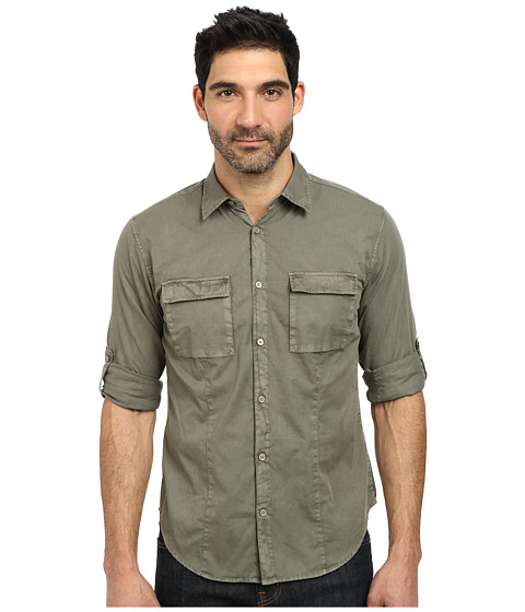 John Varvatos Star U.S.A. - Two-Pocket Utility Roll Up Sleeve Shirt W487R2B (Olive Branch) Men
