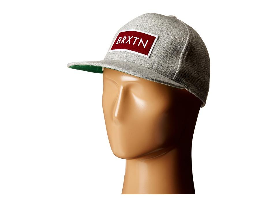 Brixton - Rift Snapback (Grey) Caps