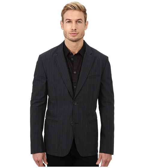 John Varvatos Star U.S.A. - Two Button Notch Lapel Jacket w/ Interior Taping Detail JVS1191L (Midnight) Men's Coat