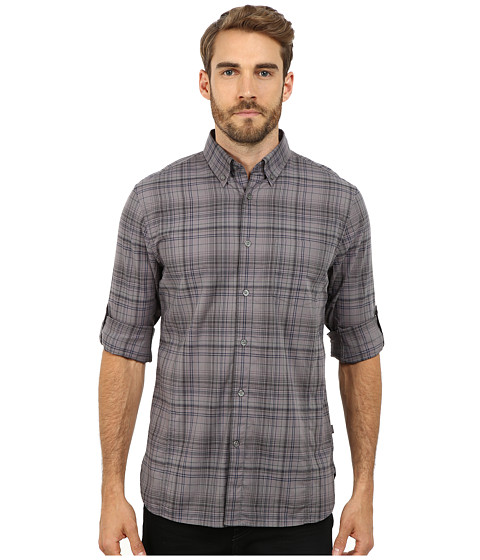 John Varvatos Star U.S.A. - Roll Up Sleeve Shirt with Button Down Collar and Single Pocket W387R2B (Freesia) Men's Clothing