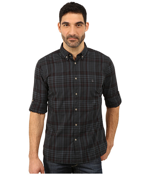 John Varvatos Star U.S.A. - Button Down Shirt w/ Peace Embroidery W426R3B (Steel Grey) Men's T Shirt