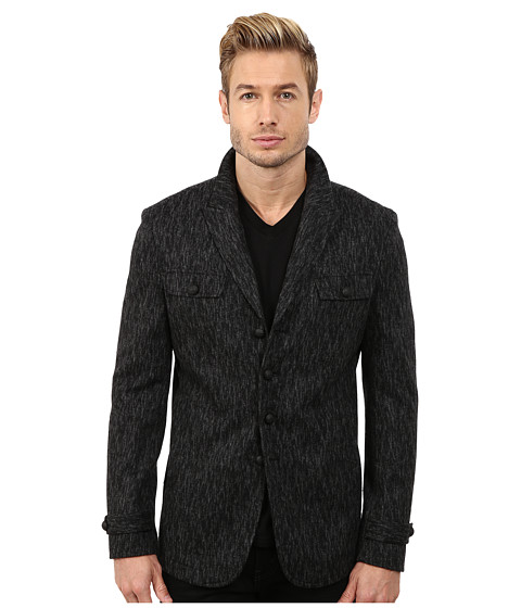 John Varvatos Star U.S.A. - Three Button Single Breasted Jacket O1282R3L (Grey Flannel) Men's Coat