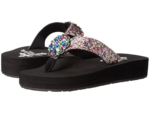 Gypsy SOULE - Addy w/ Tutti Frutti Cutie Concho (Toddler/Little Kid) (Black) Women's Sandals
