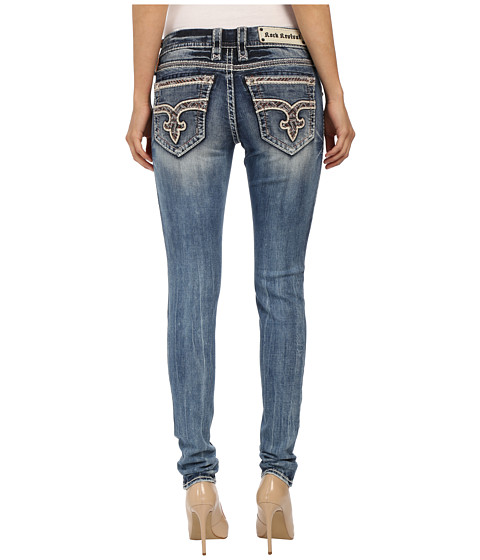 Rock Revival - Sun S202 Skinny (Medium Blue) Women's Jeans
