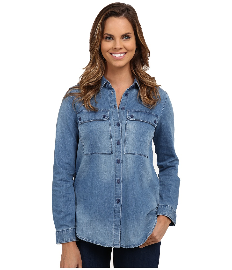 KUT from the Kloth - Lightweight Button Down Boyfriend Top (Hope) Women's Long Sleeve Button Up