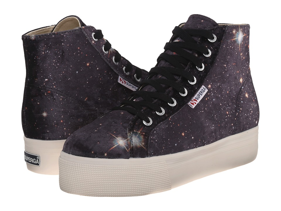 Superga - 2212 Velvet Space (Black Multi) Women's Lace up casual Shoes