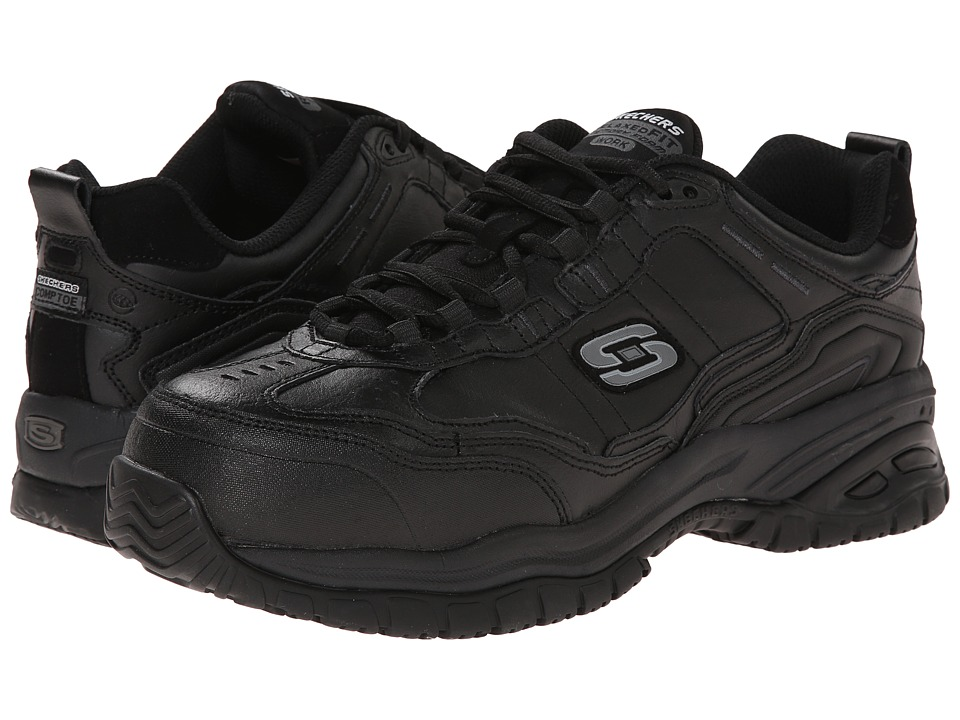 SKECHERS Work - Soft Stride - Chatham (Black/Graphite) Men's Shoes