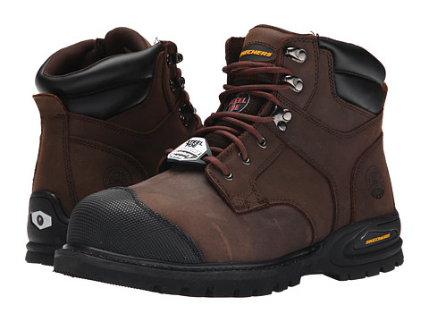 SKECHERS Work - Kenner (Chocolate) Men's Work Boots