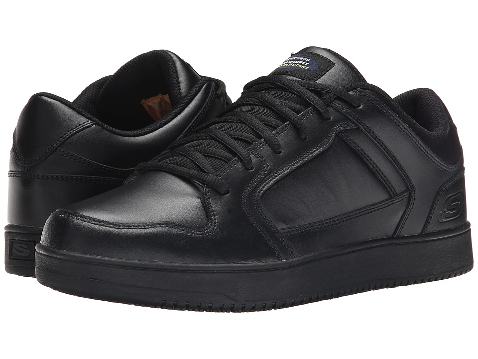 SKECHERS Work - Ossun (Black) Men's Shoes