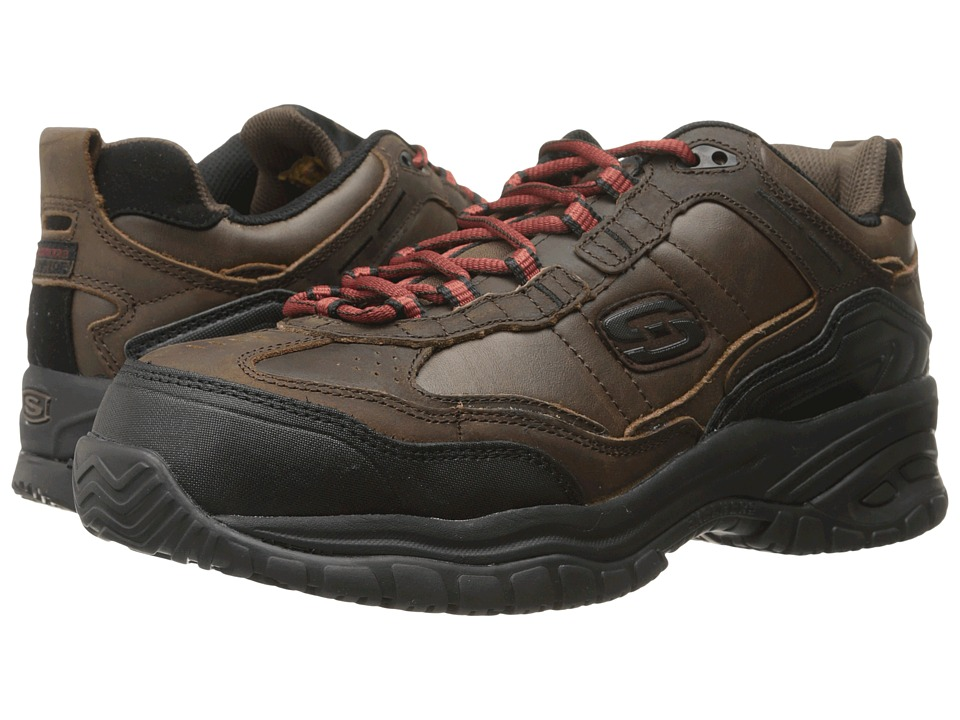 SKECHERS Work - Soft Stride - Constructer 2 (Chocolate) Men's Shoes