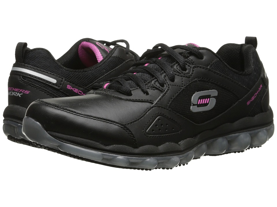 SKECHERS Work - Skech Air SR (Black/Pink) Women's Shoes