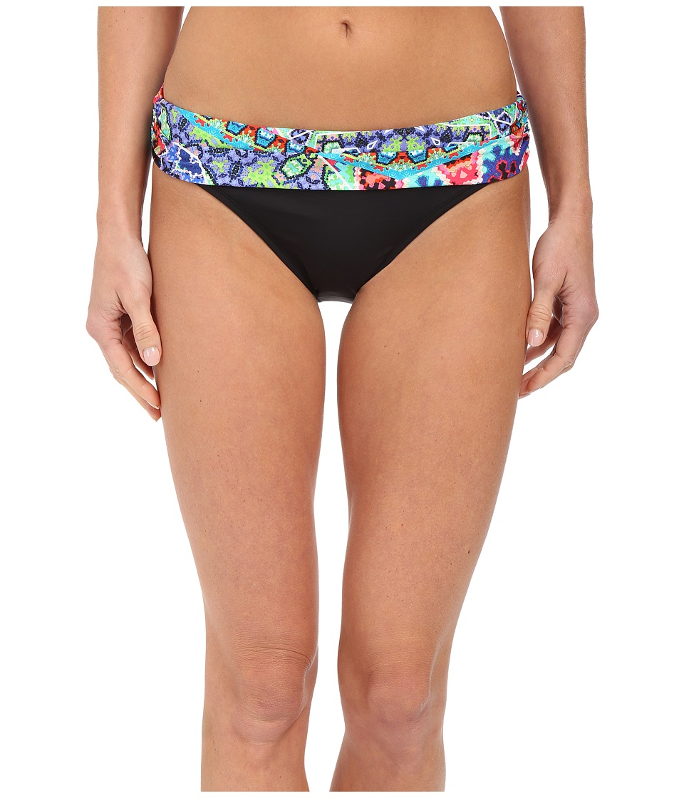 La Blanca Barbados Shirred Band Hipster Bottoms Multi Swimwear