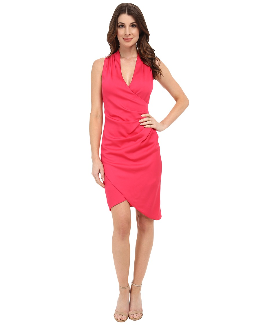 Nicole Miller - Asymmetric Stretch Crepe Dress (Candy Pink) Women