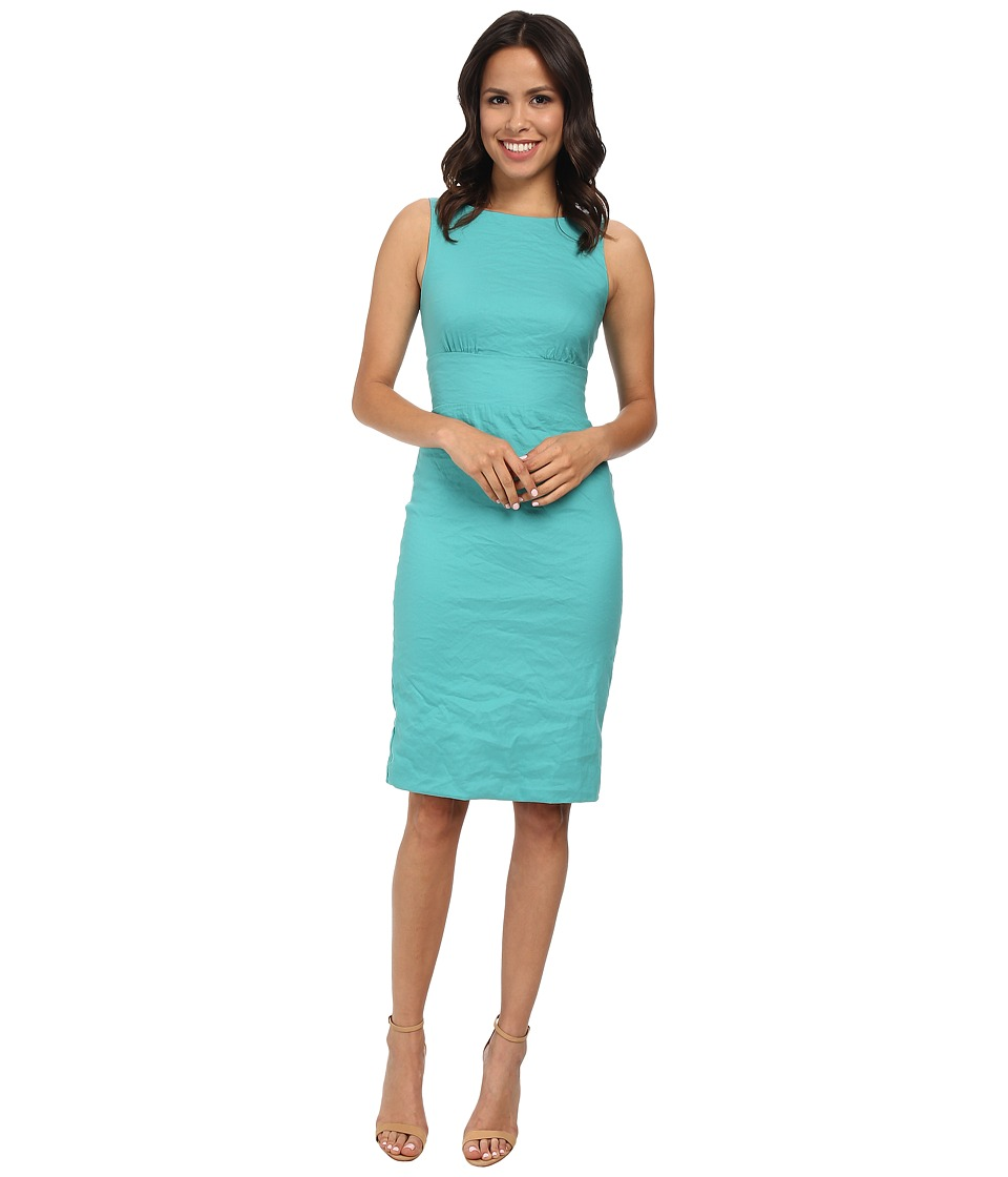 Nicole Miller - Tieback Garden Party Dress (Aqua) Women's Dress