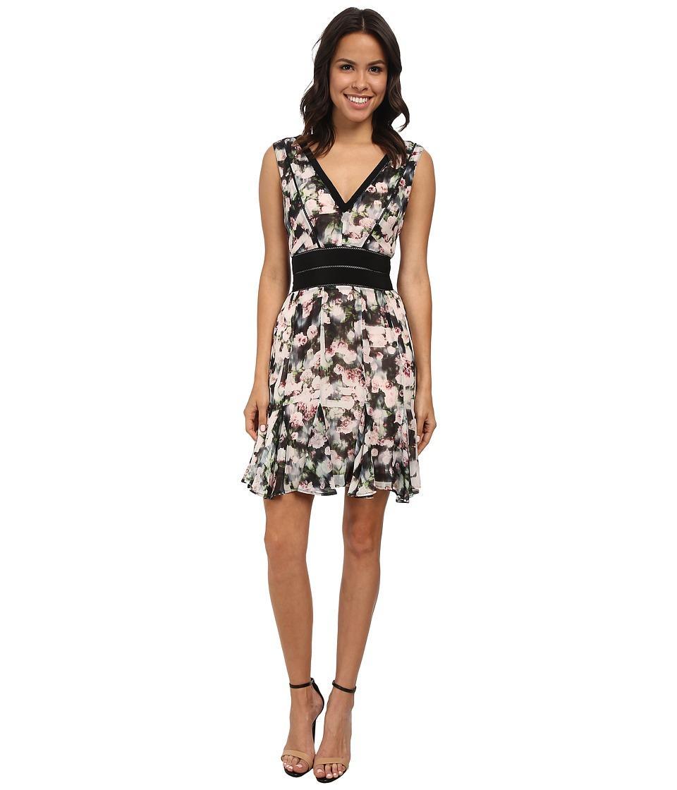 Nicole Miller - Rose Trellis V-Neck Party Dress (Multi) Women's Dress