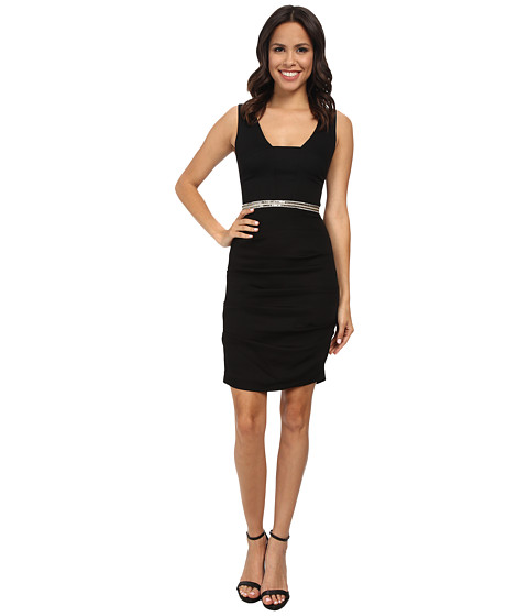 Nicole Miller - Tieback Dress w/ Waistband (Black) Women's Dress