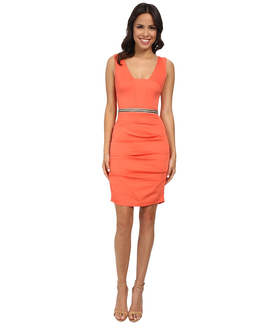 Nicole Miller - Tieback Dress w/ Waistband (Grapefruit) Women