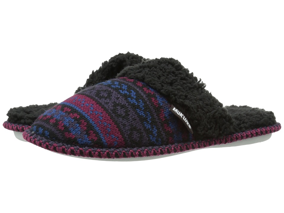 MUK LUKS - Knit Scuff (Purple) Women's Slippers