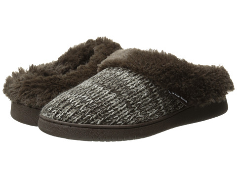 MUK LUKS - Knit Clogs (Dark Brown) Women's Slippers