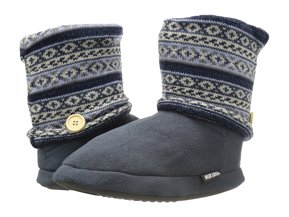 MUK LUKS Legwarmer Boot (Grey) Women