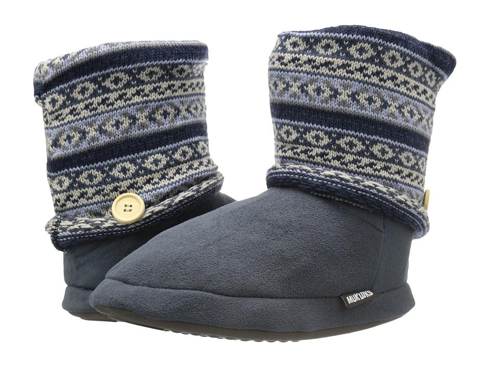 MUK LUKS - Legwarmer Boot (Grey) Women's Pull-on Boots