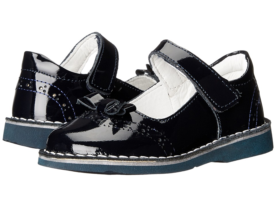 Kid Express - Kenzie (Toddler/Little Kid/Big Kid) (Navy Patent) Girls Shoes