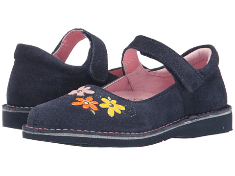 Kid Express - Lilian (Toddler/Little Kid/Big Kid) (Navy Suede) Girl's Shoes