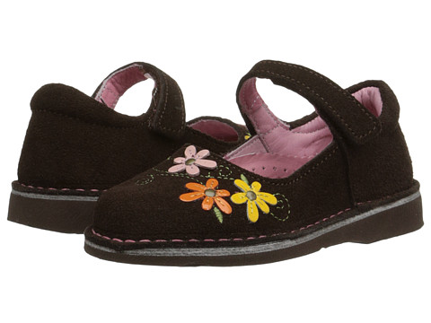 Kid Express - Lilian (Toddler/Little Kid/Big Kid) (Dark Brown Suede) Girl's Shoes