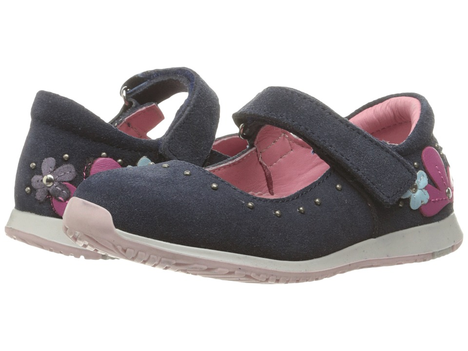 Kid Express - Taylor (Toddler/Little Kid) (Navy Suede) Girl's Shoes