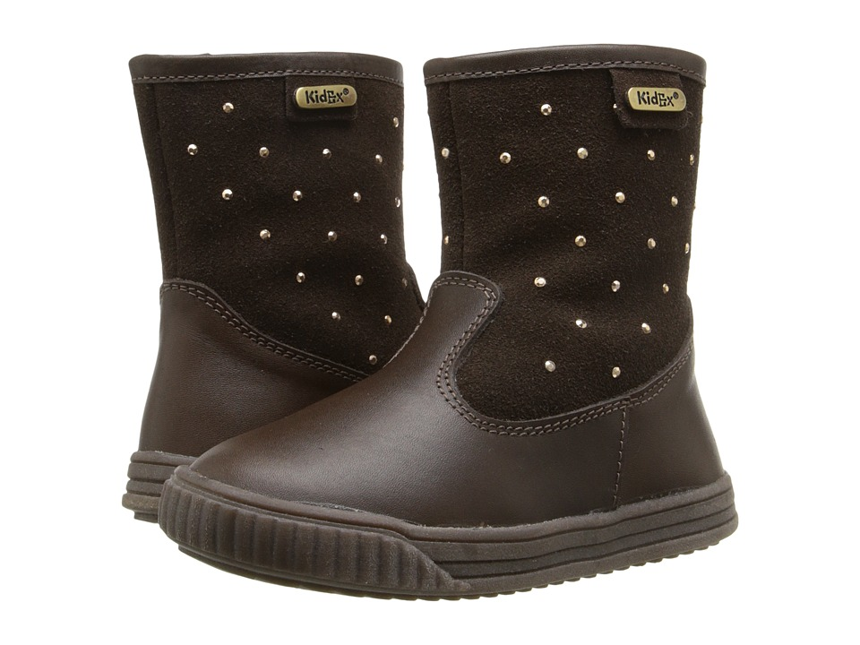 Kid Express - Tori (Toddler/Little Kid) (Dark Brown Combo) Girls Shoes