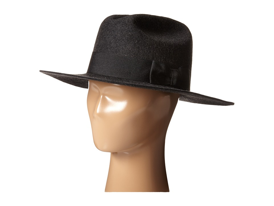 Brixton - Tara Fedora (Heather Black) Fedora Hats
