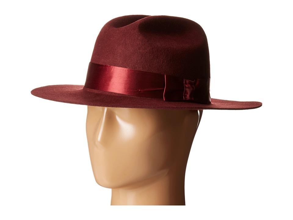 Brixton - Tara Fedora (Maroon) Fedora Hats