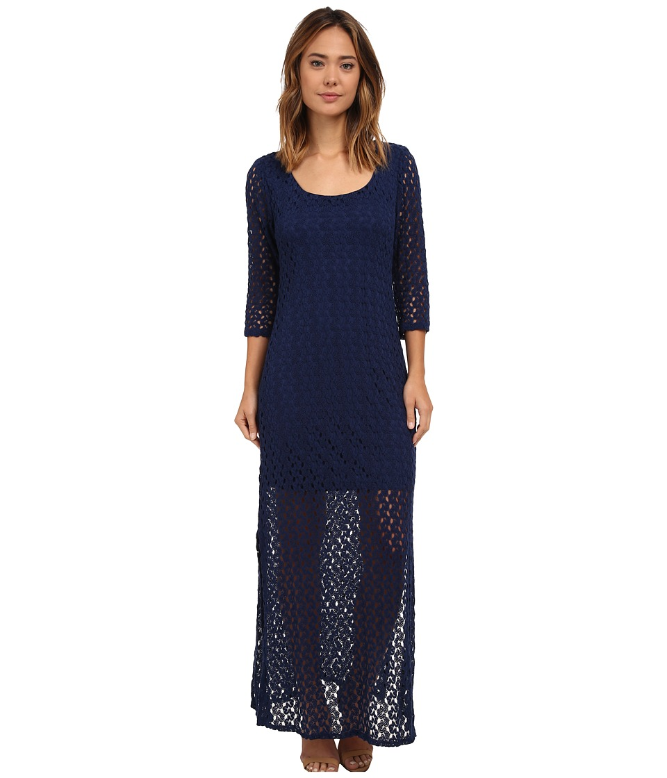 Brigitte Bailey - Sacramento 3/4 Sleeve Maxi Dress (Navy) Women