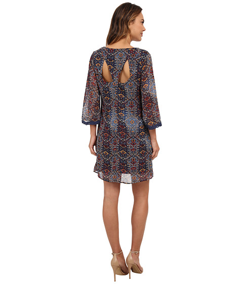 Brigitte Bailey - Sante Fe Trapeze Dress (Navy) Women's Dress