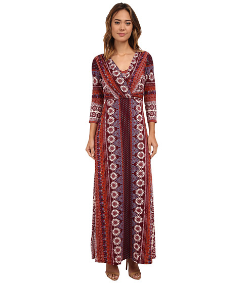 Brigitte Bailey - Denver Maxi Dress (Burgundy/Rust) Women's Dress