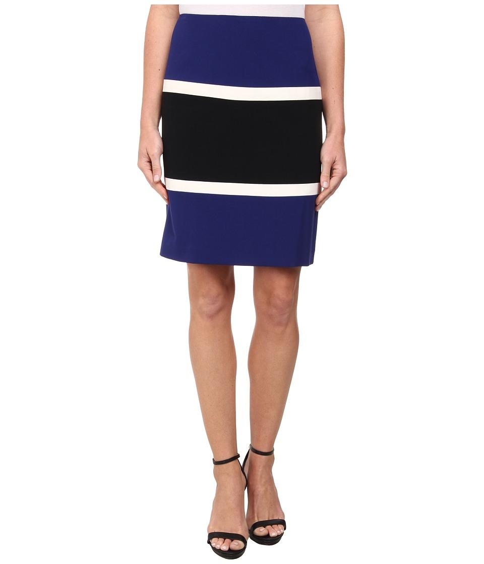 Anne Klein - Color Block Anne Skirt (Ultramarine Multi) Women