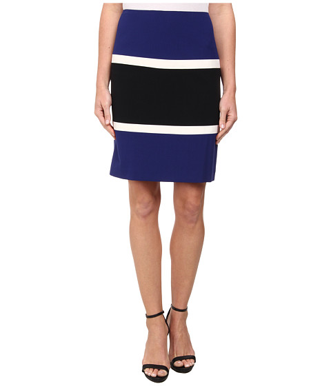 Anne Klein - Color Block Anne Skirt (Ultramarine Multi) Women