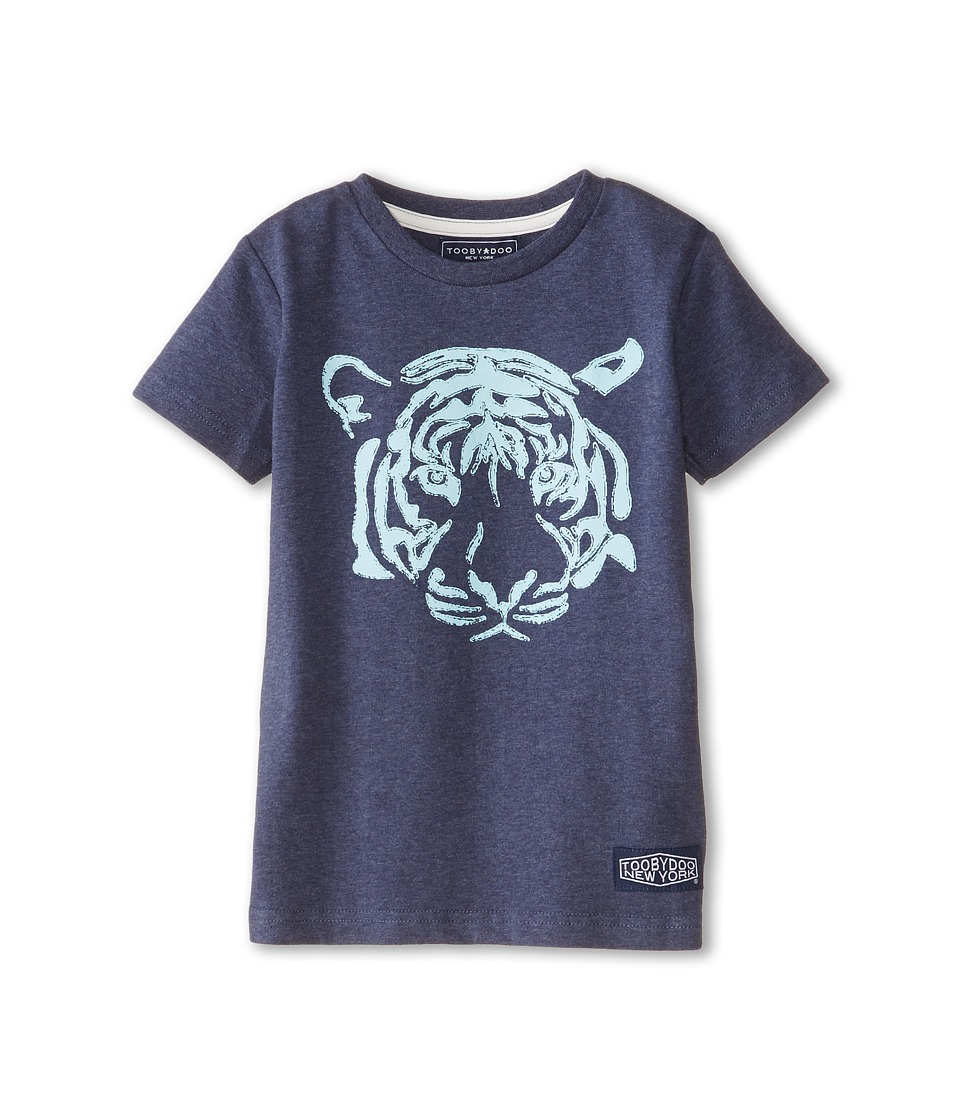 Toobydoo - Wild Bunch Tiger Tee (Infant/Toddler/Little Kids/Big Kids) (Navy) Boy