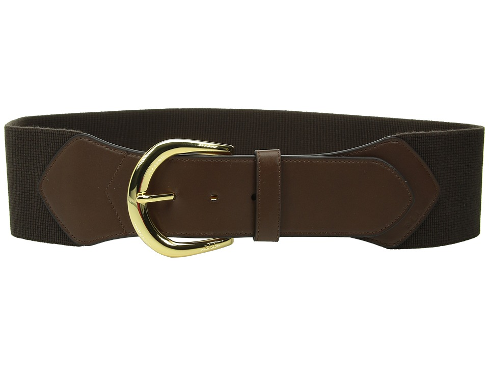 LAUREN Ralph Lauren - Stretch 3 Belt (Chocolate) Women