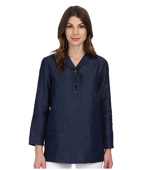 Anne Klein - Denim Tunic (Indigo) Women's Blouse
