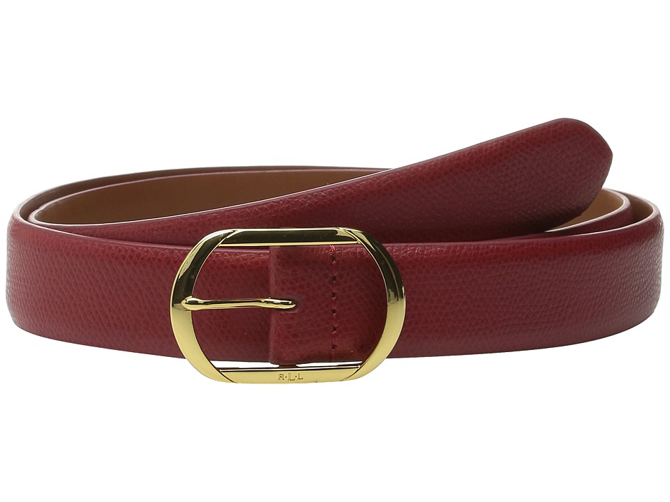 LAUREN Ralph Lauren - Whitby 1 1/8 Centerbar Belt (Fall Red) Women's Belts
