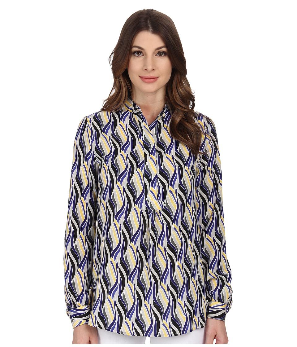 Anne Klein - Wave Print Popover Tunic (Ultramarine Multi) Women